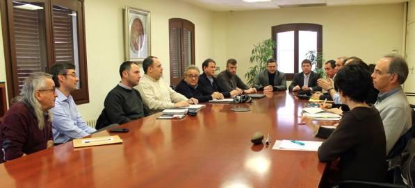 El Comité de Emergencia, esta mañana. Foto: Ajuntament de Sabadell.